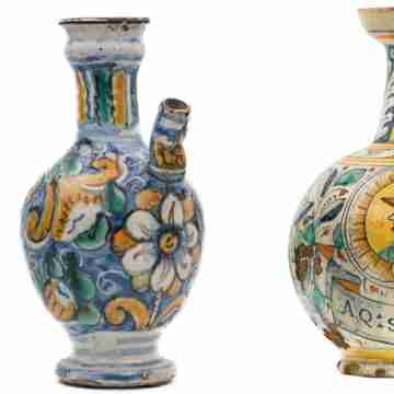 Vasi in ceramica dipinti a mano
