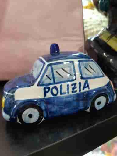 Fiat 500 Polizia in Ceramica di Caltagirone