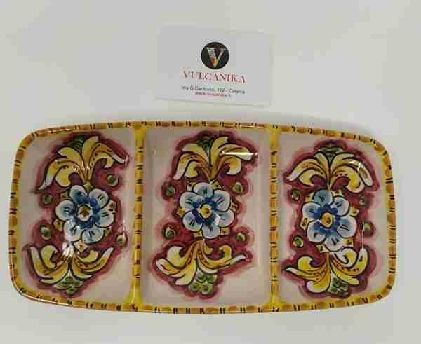 Antipastiera in Ceramica di Caltagirone