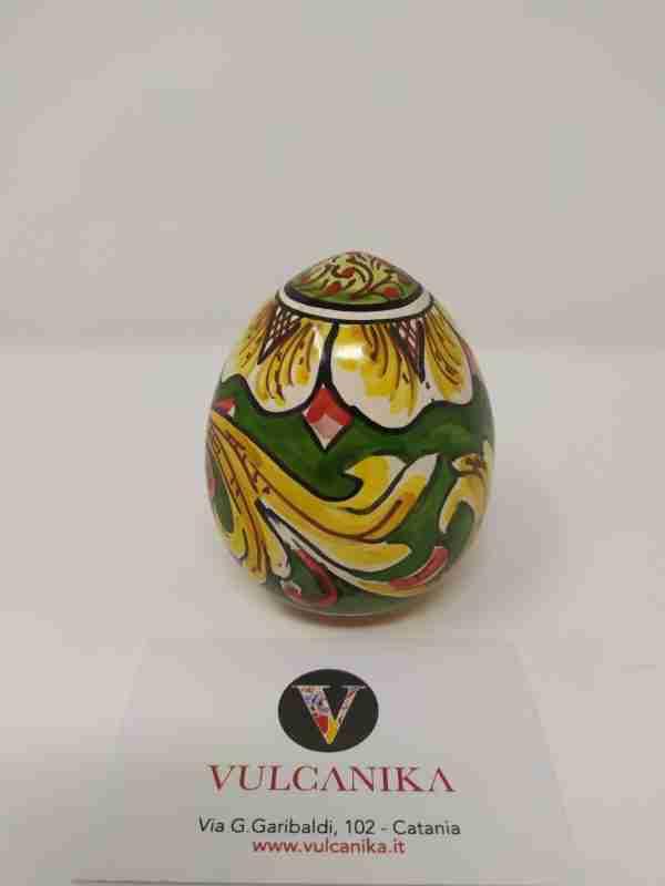 Uovo Pasquale in Ceramica di Caltagirone dipinto a mano