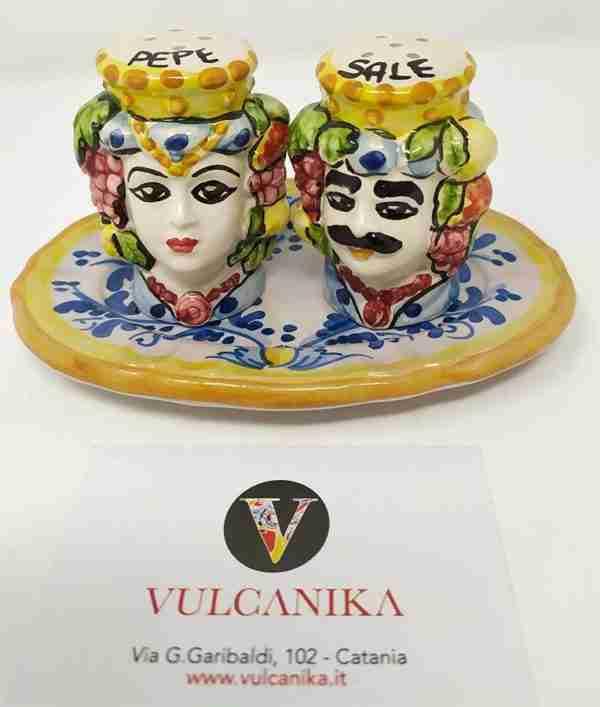 Sale e Pepe Ceramica Caltagirone Dipinta a Mano