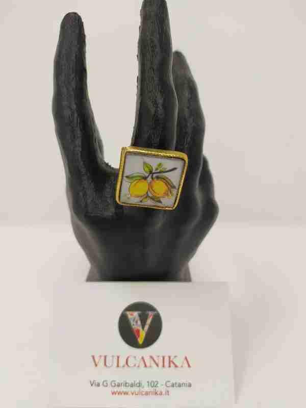 Anello in Ceramica di Caltagirone
