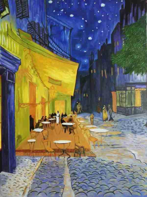Van Gogh Terrazza del caffè la sera Falso d'autore Artista Alessia Interdonato