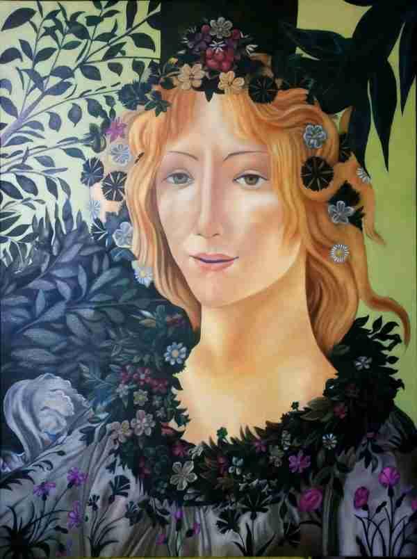 Primavera del Botticelli Particolare Artista Alessia Interdonato