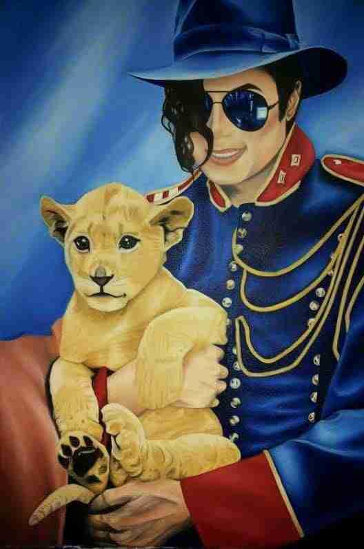 Michael Jackson - Olio su tela Artista Alessia Interdonato