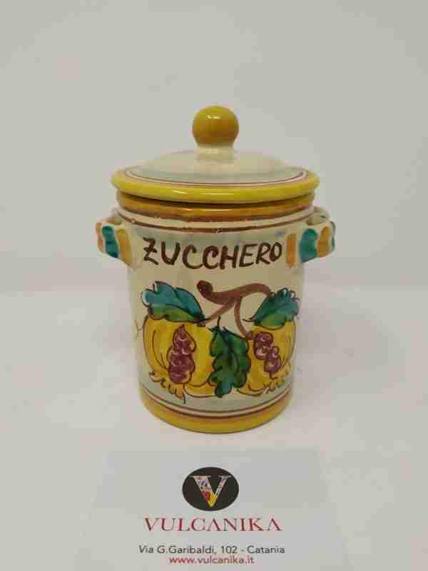 Barattolo porta zucchero in Ceramica di Caltagirone