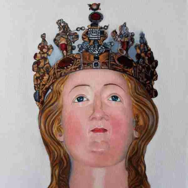 Sant'Agata Olio su tela 20x20