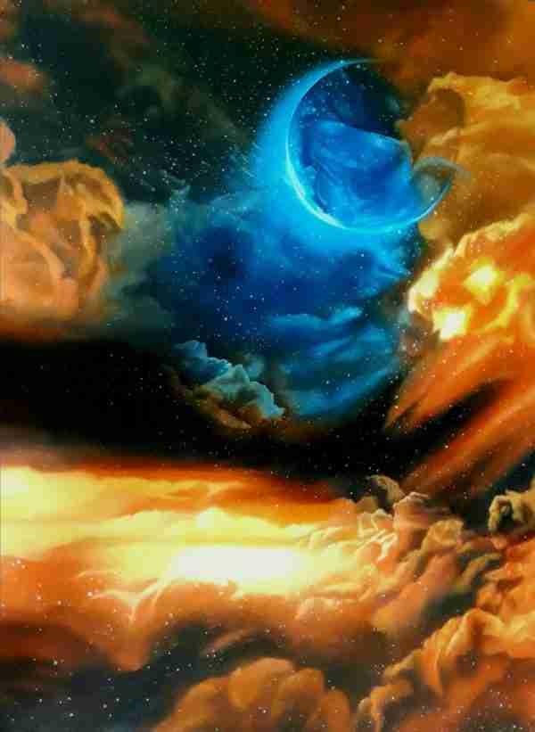 Galassia Olio su tela 120x90 Autore Alessia Interdonato