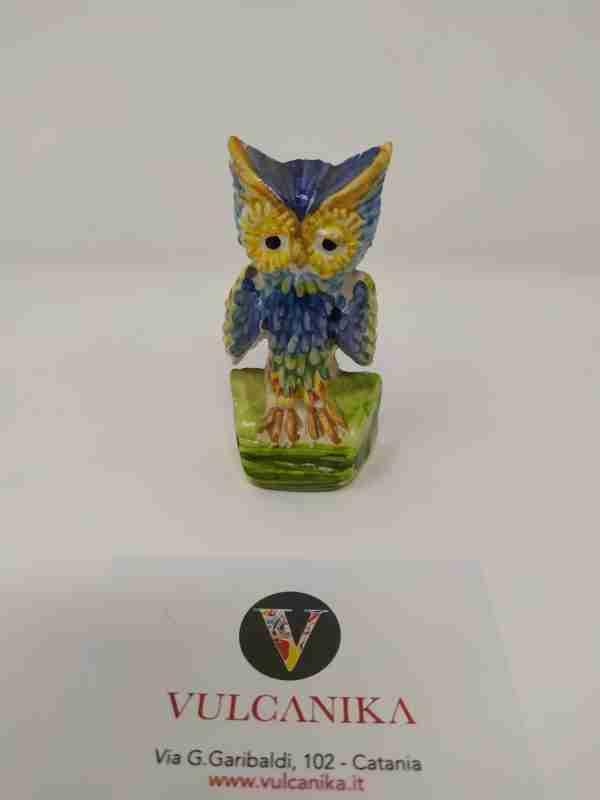 Gufetto in Ceramica di Caltagirone dipinta a mano
