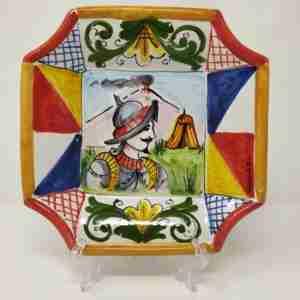 Piatti in Ceramica o terracotta dipinti a mano