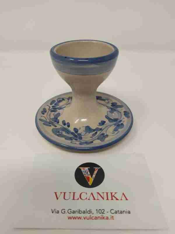 Portauovo in Ceramica di Caltagirone dipinto a mano