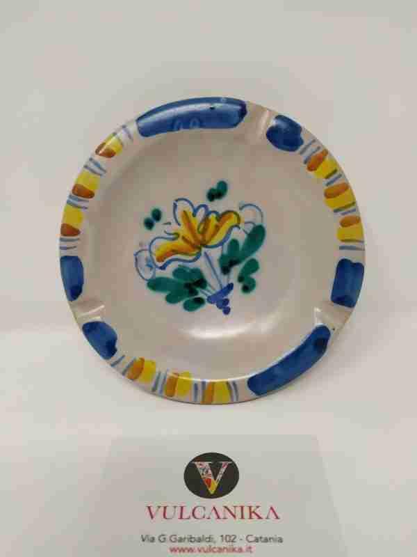Posacenere in Ceramica di Caltagirone dipinto a mano