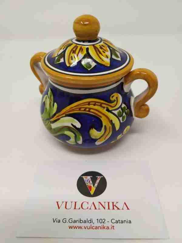 Zuccheriera in Ceramica di Caltagirone