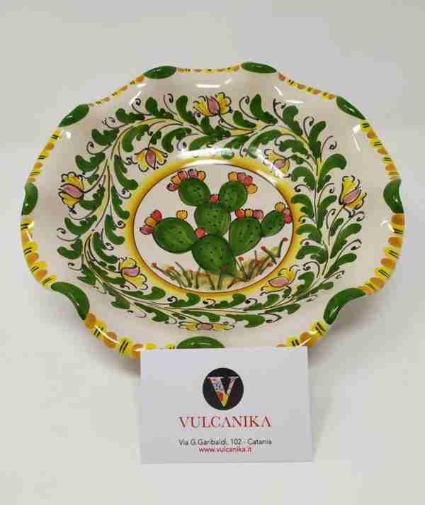 Vassoio Ceramica di Caltagirone dipinto a mano
