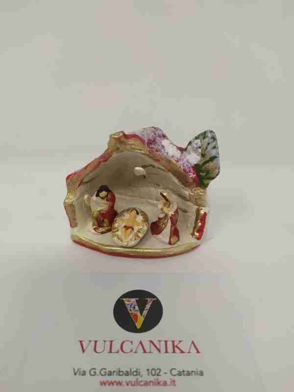 Presepe in Terracotta di Caltagirone dipinto a mano
