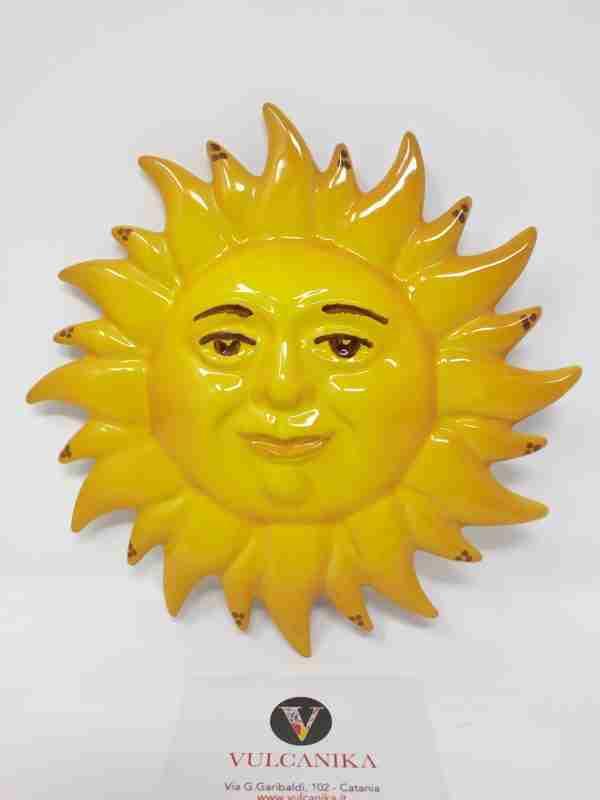 Sole in Ceramica di Caltagirone dipinto a mano