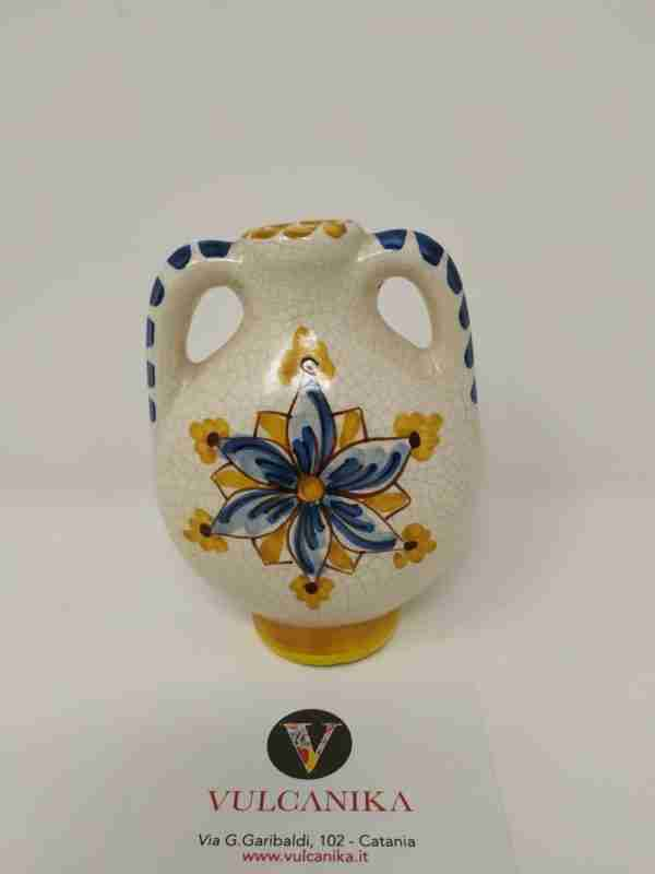 Anfora in Ceramica di Caltagirone dipinta a mano
