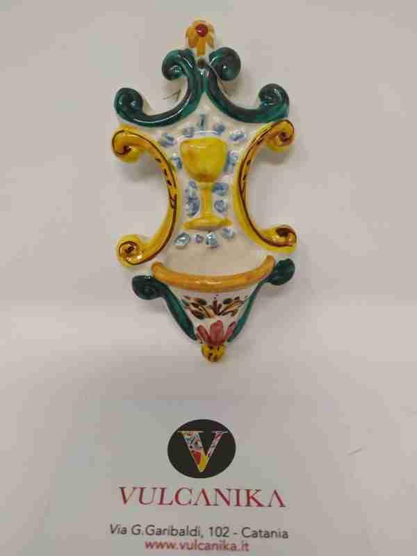 Acquasantiera in Ceramica di Caltagirone