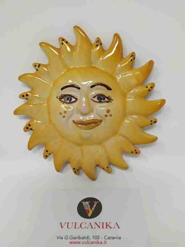 Sole in Ceramica di Caltagirone dipinta a mano