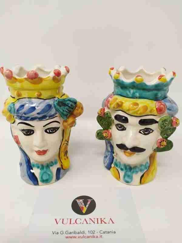 Teste di Moro in Ceramica di Caltagirone dipinta a mano