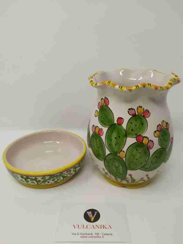 Scolaposate in ceramica di Caltagirone dipinta a mano