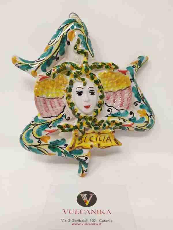 Trinacria in Ceramica di Caltagirone