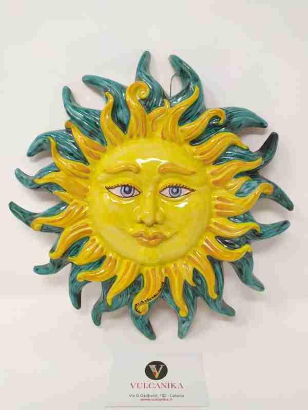 Sole in ceramica di Caltagirone