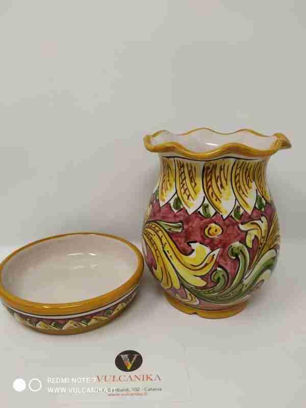 Scolaposate in Ceramica di Caltagirone dipinto a mano