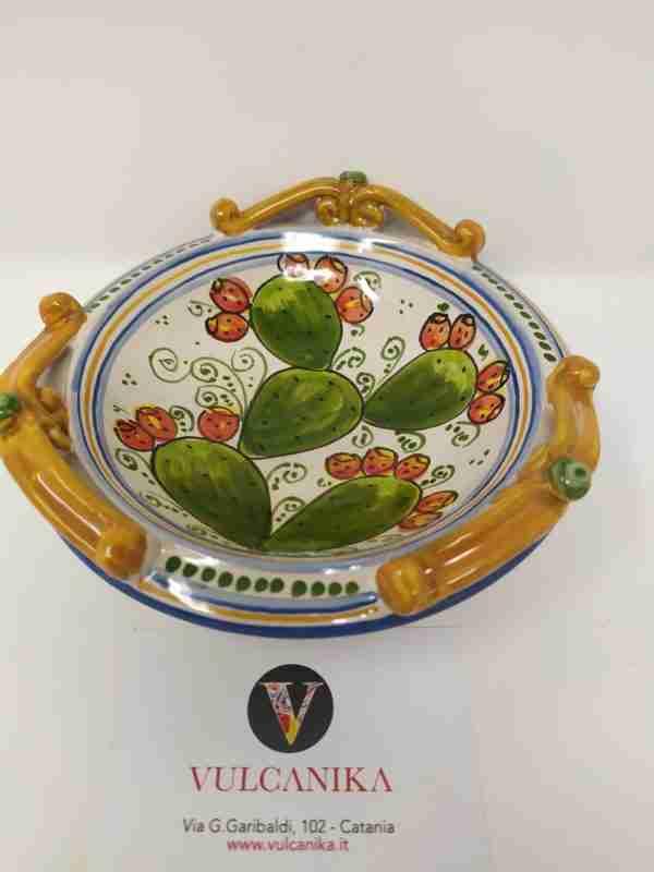 Piattino in Ceramica di Caltagirone dipinta a mano