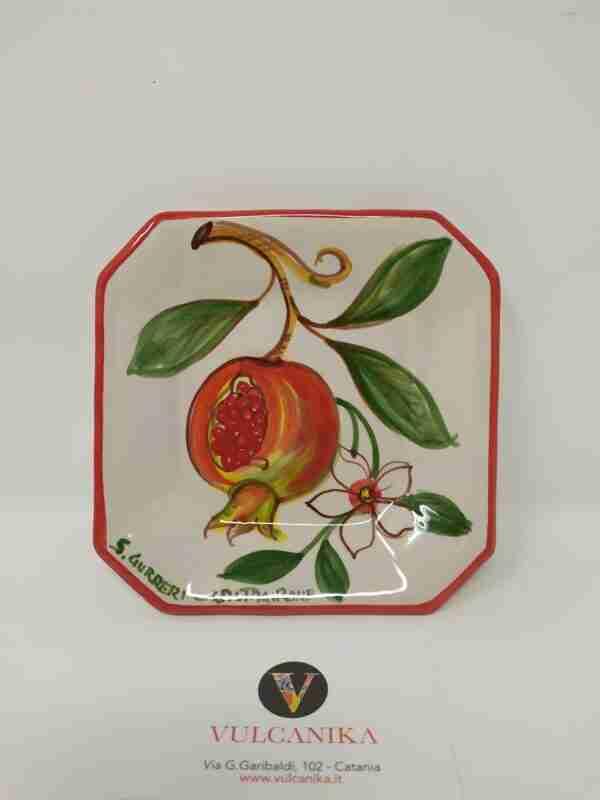 Piattino Ceramica Caltagirone dipinto a mano