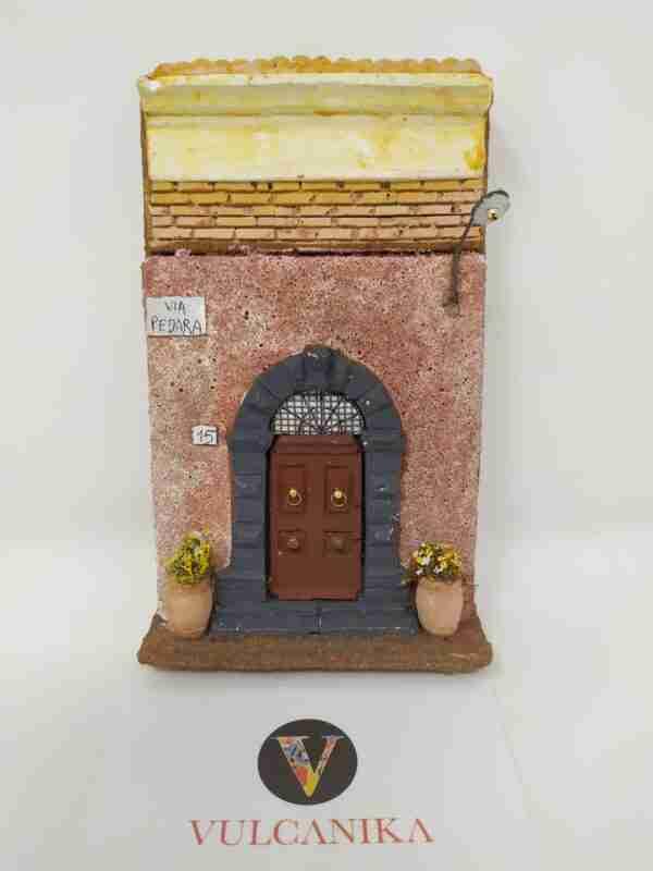 Facciata antica casa Siciliana