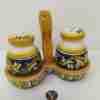 Set Sale e Pepe in ceramica di Caltagirone dipinta a mano
