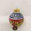 Palla di Natale in ceramica di Caltagirone dipinta a mano