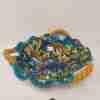 Vassoio in ceramica di Caltagirone dipinta a mano